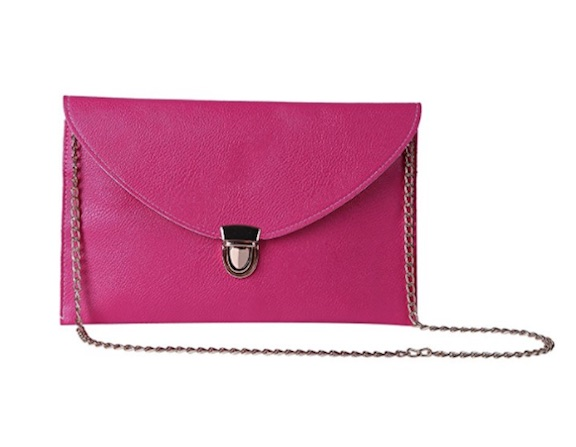 pink amazon clutch
