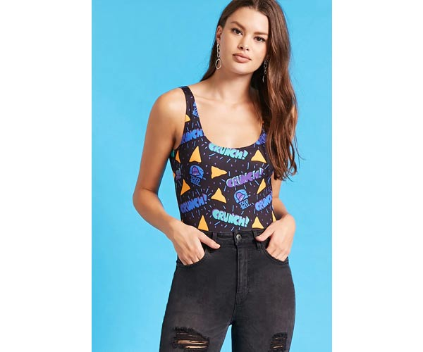 taco bell x F21 body suit