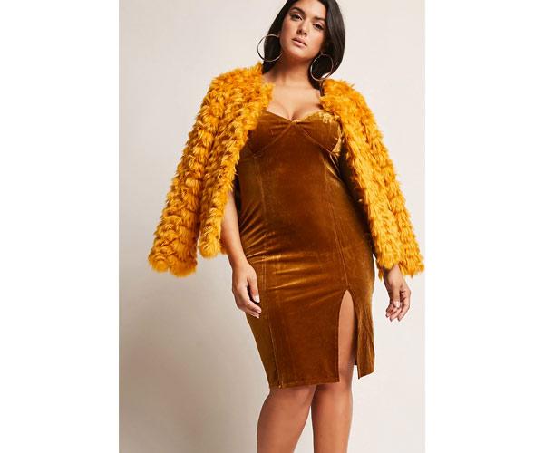 forever 21 mustard coat
