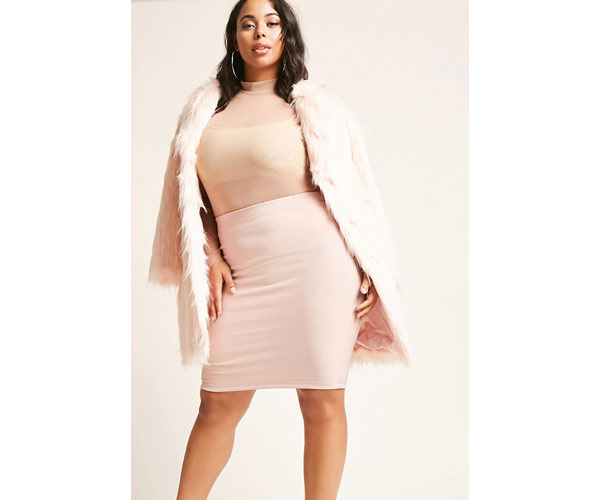 forever 21 plus size pink coat