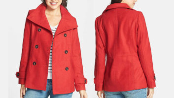 Nordstrom's Super Popular Peacoat Is Now Available In Red... And It's Only $37!