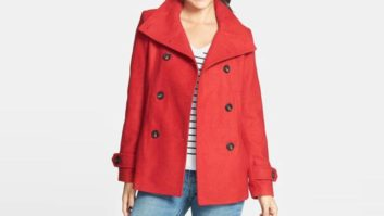 Nordstrom's Crazy Popular Peacoat Is Now Available In Red... And It's Only $37!