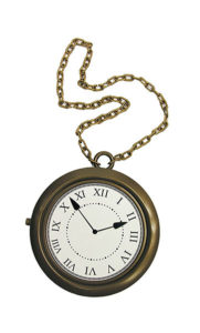 Clock necklace costume jewelry