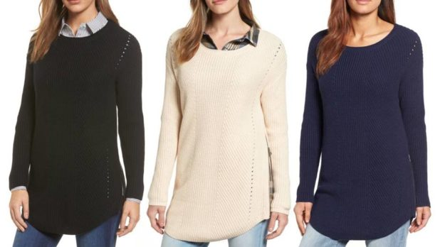 Hurry! This $39 Tunic Sweater Is Selling Like Crazy At Nordstrom Right Now