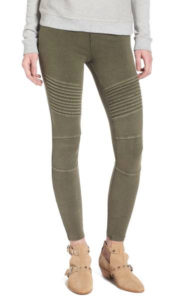 green Moto leggings