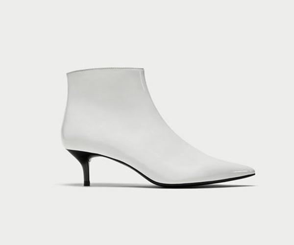 white boots kitten heel