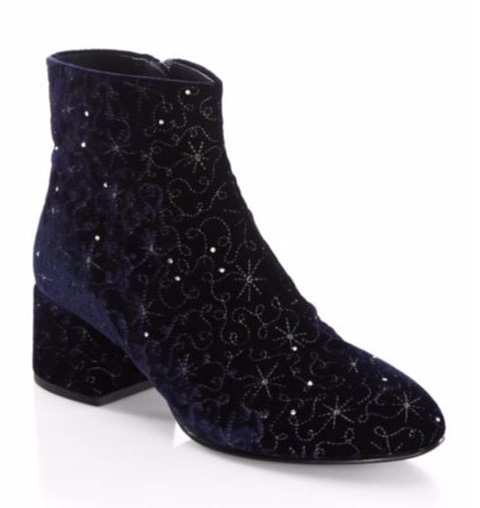 Ash Diamond Velvet Booties
