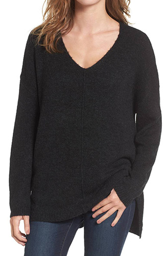 Exposed Seam Tunic Sweater