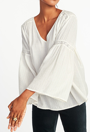 Lace-Trim Swing Top for Women