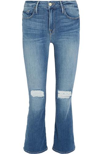 frame crop jeans on sale blue