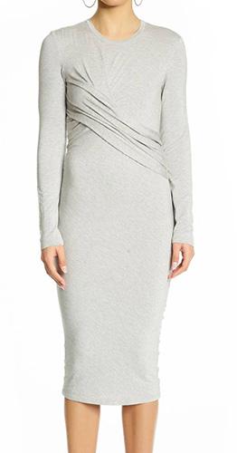 Long Sleeve Twist Dress