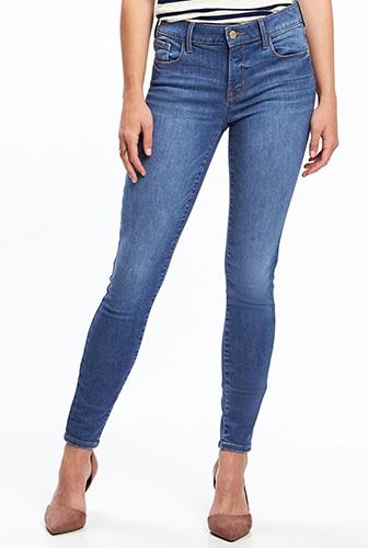 Mid-Rise Built-In Sculpt Rockstar Jeans for Women