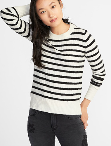Plush Rib-Knit Tee for Women