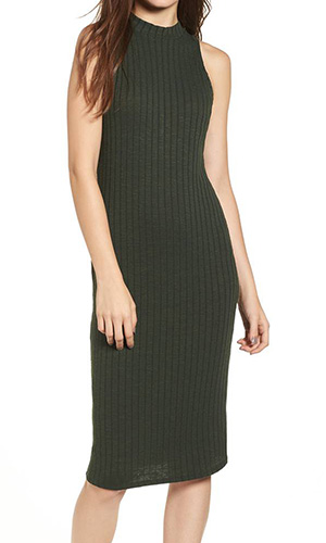 Rib Knit Midi Dress