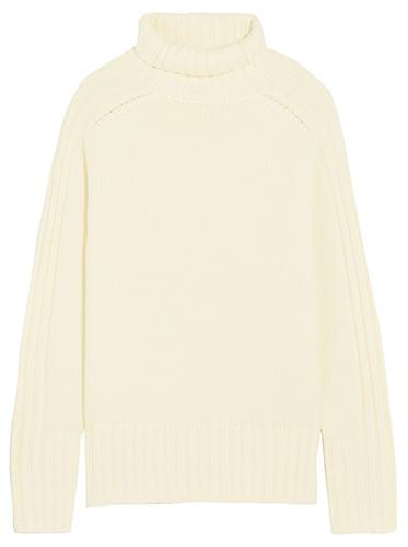 JOSEPH Ribbed merino wool turtleneck sweater