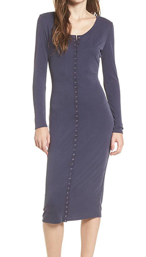 Snap Front Henley Dress