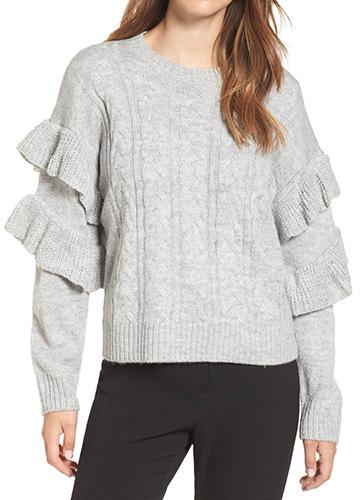 Sophie Ruffle Sleeve Sweater
