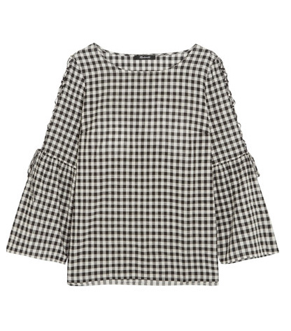 MADEWELL gingham cotton top on sale