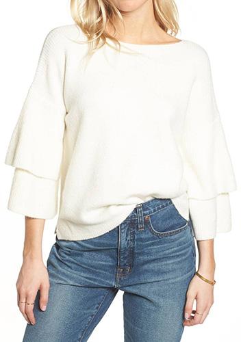 Tier Sleeve Sweater