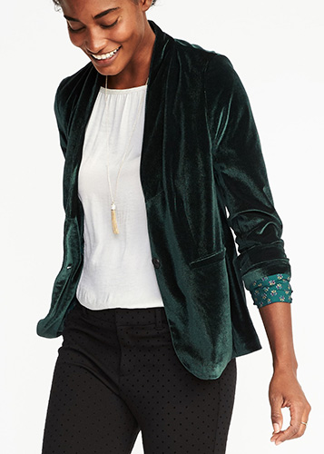 Velvet Blazer for Women