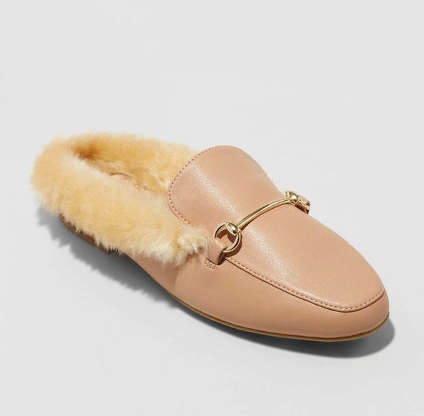 a new day backless loafers pink