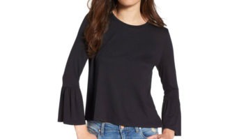 Nordstrom Shoppers <em>Love</em> This $17 Bell Sleeve Top (And You Will, Too)