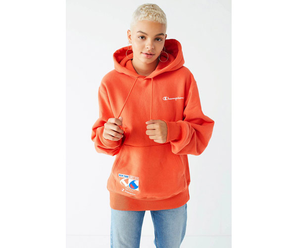 champion urban outfitters orange hoodie