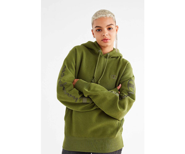 champion urban outfitters green hoodie