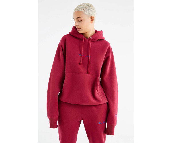 champion urban outfitters maroon hoodie