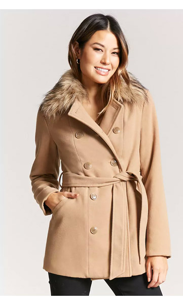 forever 21 pre black friday sale fur peacoat deal