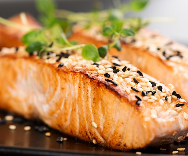 salmon back fat