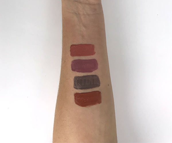 huda beauty liquid matte lipstick swatches