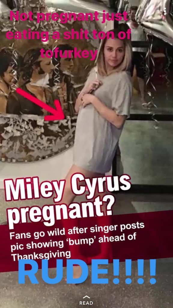 miley pregnant