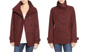 Nordstrom's Bestselling $37 Peacoat Is Back In A Gorgeous New Color: Oxblood