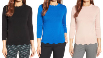 Nordstrom Just Re-Stocked This Crazy Popular Scalloped Sweater--Order One ASAP Before It Sells Out (Again)