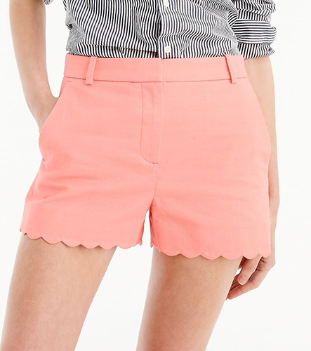 ... Pocket T-Shirt Bodysuit In Stripe ( 39.50). J.Crew 3″ Short With  Scalloped Hem ( 59.50). SHOP NOW 544ab325a
