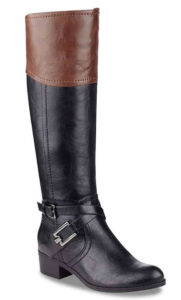 brown and black boots wide calf