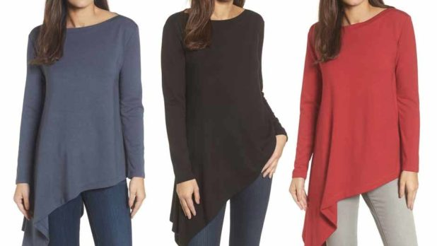 Nordstrom Shoppers <em>Love</em> This Flattering Asymmetrical Tunic--Get One While It's On Sale