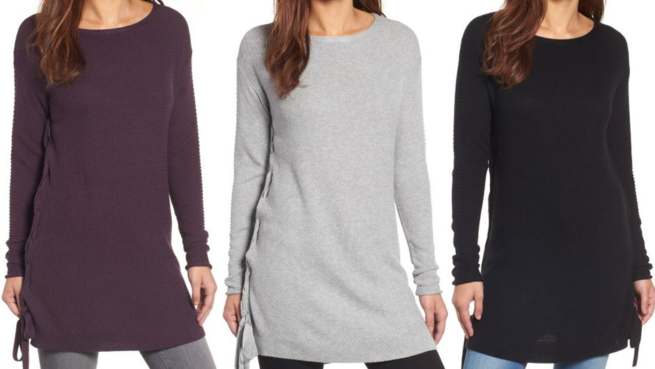 8a85940b86255 This  35 Lace-Up Tunic Sweater Is Crazy Flattering–Get One In Every ...