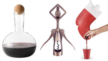 12 Gifts For The Wine Lover In Your Life: Santa's Flask, Wine Bottle Glass, More