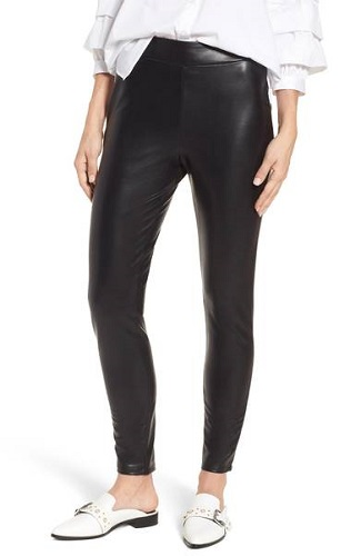 leith high waist leather leggings nordstrom