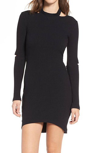 Elbow Cutout Dress