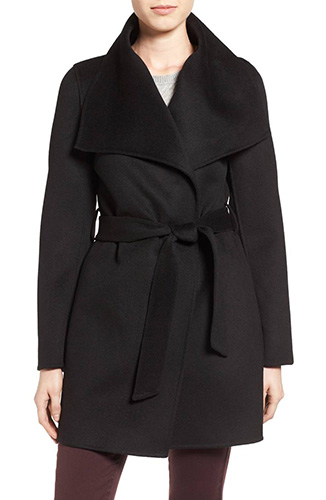 Ella Belted Double Face Wool Blend Wrap Coat
