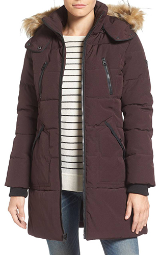Expedition Quilted Parka with Faux Fur Trim