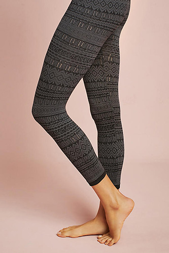 Fair Isle Fleece-Lined Tights