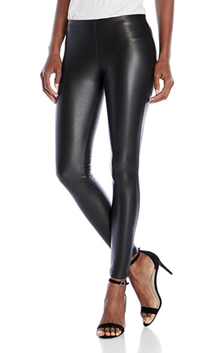PLUSH Faux Leather Fleece-Lined Leggings