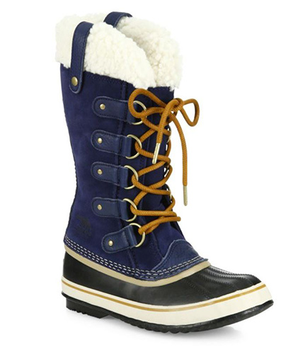 Joan Of Artic Suede and Shearling Winter Boots