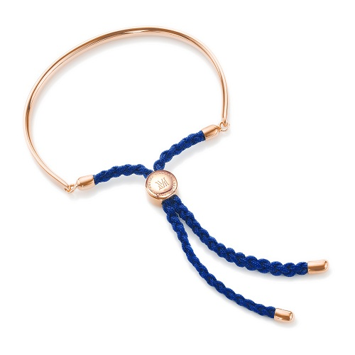 fiji friendship bracelet royal blue monica vinader