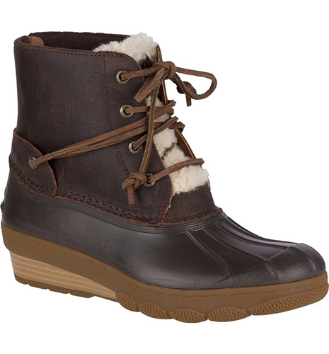Saltwater Water Resistant Faux Shearling Duck Boot