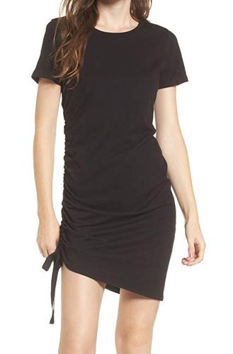 Side Cinch Cotton Dress